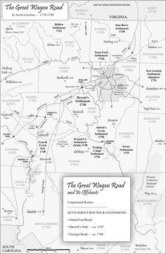 North Carolina ~ Great Wagon Road South 1750-1780