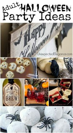 Adult Halloween Theme Party Ideas . Great ideas for Halloween food and easy crafts to throw a spooktacular party