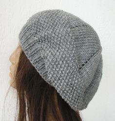 (6) Name: 'Knitting : Seed Stitche Beret  Hat Pattern
