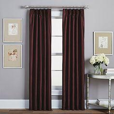 Spellbound Pinch-Pleat Rod Pocket Window Curtain Panel
