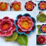 Crochet Flower Patterns Triple Layer Crochet Flowers - This Triple Layer Flower Crochet Tutorial and we have video instructions for you to crochet along with. Check out the gorgeous Cloche Hats too. Crochet Diy, Crochet Simple, Crochet Crafts, Crochet Projects, Diy Projects, Beau Crochet, Tutorial Crochet, Project Ideas, Diy Crafts