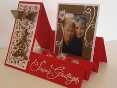 Fancy fold Christmas card