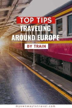A fantastic and the cheapest way to explore Europe is by train. So how to travel Europe by train? Get quick top tips for traveling around Europe by train. Train Tickets Europe, Europe Train Travel, Travel Europe Cheap, Travel Through Europe, New Travel, European Travel, Beach Travel, Tips