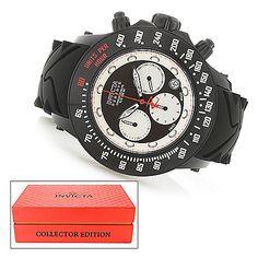 Invicta Reserve 52mm Subaqua Trackmaster Swiss Made Quartz Silicone Strap Watch w/ Collector's Case