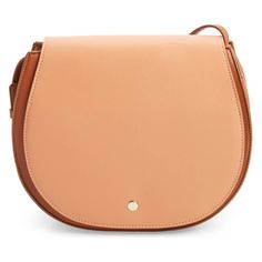 Rank & Style - Sole Society Jules Two-Tone Faux Leather Saddlebag #rankandstyle