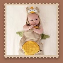 """""""My Little Night Owl"""" Snuggle Sack and Cap   What a wise choice! Whooo can resist """"My Little Night Owl,"""" Baby Aspen's dreamy snuggle sack? It's almost too cute for words, but we'll find some! How about unique? Adorable? Huggable? The bright spot at the baby shower? And, of course, the most original baby gift a new mom and dad can receive! Why not send the best to their nest?"""