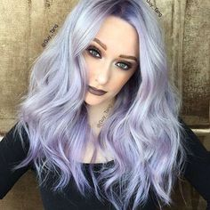 Georgeous silver violet hair color and style by Guy Tang Hair Artist hotonbeau Violet Hair Colors, Lavender Hair Colors, Hair Color Purple, Purple Ombre, Purple Gray, Silver Color, Silvery Purple Hair, Purple Bob, Pastel Purple Hair