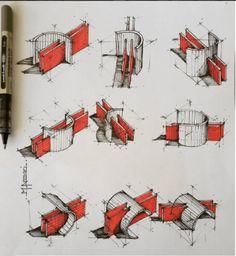 7 Ways To Improve Your Sketching Skills Architect - m-ansari Sketchbook, Inspiration, Design, Studen Plan Concept Architecture, Sketchbook Architecture, Architecture Design, Architecture Student, Architecture Fails, Computer Architecture, Museum Architecture, Vintage Architecture, Residential Architecture