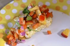 Grilled Haddock with Peach Salsa