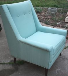 Mid Century Tufted Back Chair with Straight Legs by gremlina, $350.00