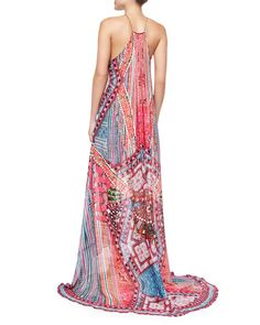 """Got it!!  Camilla Silk Overlay Hand Beaded Dress - """"In the Name of the Tribe"""" pattern - same neckline & style as the animal print version, but even longer - haven't had the opportunity to wear it yet:("""