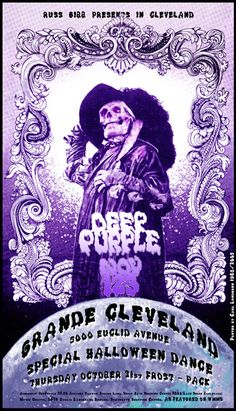 ☮ American Hippie Classic Rock Music Poster ~ Deep Purple