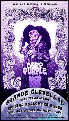 ☮ American Hippie Classic Rock Music Poster ~ Deep Purple