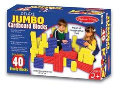Toy Stacking Block Sets - Melissa  Doug Deluxe Jumbo Cardboard Blocks 40 pc -- Want to know more, click on the image.