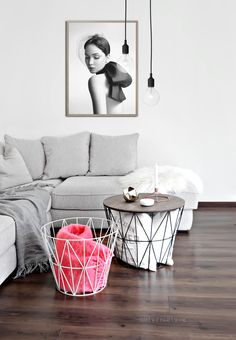 Love love love these ferme living wire baskets with the table function!