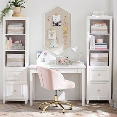 Shop desk from Pottery Barn Teen. Our teen furniture, decor and accessories collections feature fun and stylish desk. Create a unique and cool teen or dorm room. Home Office Design, Home Office Decor, Home Decor, Office Ideas, Desk Ideas, Teen Room Decor, Desk Storage, My New Room, Adjustable Shelving