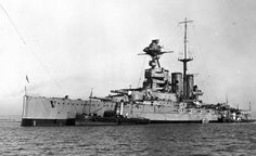 British Battle Cruiser HMS Tiger. Tiger fought in 1st Battle Cruiser Squadron at the Battle of Jutland on 31st May 1916