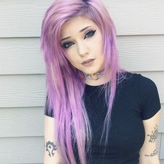 "martwe-mysli: "" ✖ The Leda Bunny ✖ inspiration ✖ purple hair ✖ pastel goth "" Beautiful pastel goth style inspiration Learn more about the types of Gothic fashion here"