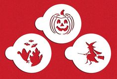 Halloween Cookie Stencil Set for Cookies Cakes & by LilyBearLane