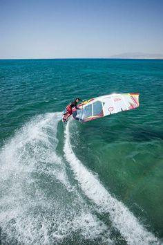 Crank that gybe! Nik Baker #windsurfing