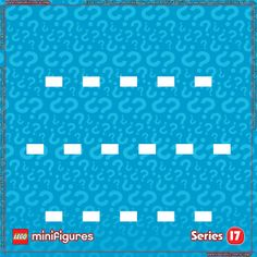 LEGO Minifigures Series 17 Background for Ikea Ribba Frame