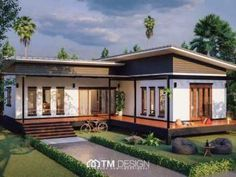In this video, we will show you modern L-shaped house plans collection from TM Designs! A house construction company based in Thailand! Modern Small House Design, Home Modern, Modern House Plans, Modern Asian, L Shaped House Plans, L Shaped Tiny House, Single Storey House Plans, House Plans Australia, Affordable House Plans