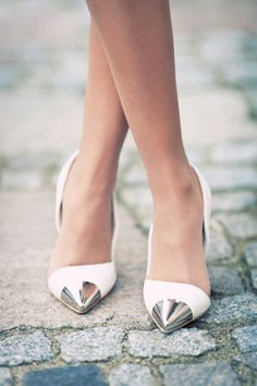 Loving metal cap toe shoes