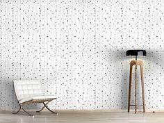 Design #Tapete Streifen und Punkte