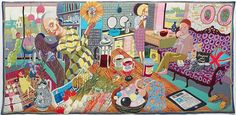 A touch of class: Grayson Perry's tapestries –   The Annunciation of the Virgin Deal, 2012    Stephen White, courtesy Victoria Miro gallery
