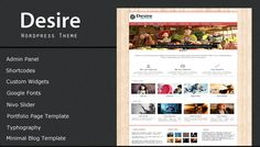 Desire is a unique  and minimal Free WordPress theme . A perfect canvas for business , small business, techers , personal blogs , designers , photo graphers and car blogs.