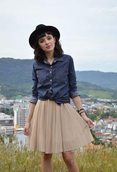 Look com camisa jeans Blog Ela Inspira - http://www.elainspira.com.br/look-one-wish/