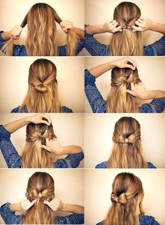 Step By Step Hairstyles Do | À la Mode » Cute, Fun, and Artistic Bow Hairstyle – Perfect for ...