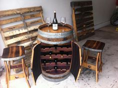 How Cool is this?  I was looking for a barrel as an accent table, but this is even better!