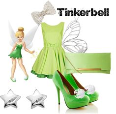 """""""Tinkerbell Inspired Outfit"""" by olivia-ingersoll on Polyvore"""