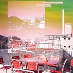 Red chairs #glitch #glitchart #photomanipulation #emmenbrücke #switzerland