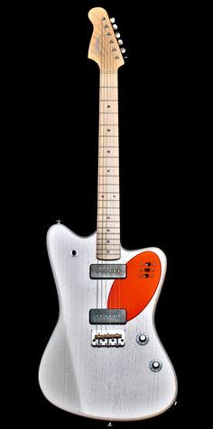 """Deimel Firestar """"Ellipse"""". Handmade guitar. Pure wood, pure pickups, pure switching-except for some highly usable piezo, tap, and serial/parallel routings.Three slider switches"""