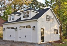 Prefab Carriage House Garage Carriage Shed Garage Plans Garage House, Carriage House Garage, Carriage Doors, Garage Studio, Garage Attic, Garage Apartment Plans, Garage Apartments, Design Garage, House Design