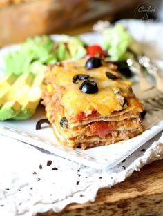 Burrito Lasagna from @cookiesandcups