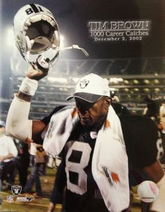 b21c1d0a7 Oakland Raiders Hall of Fame Wide Receiver Tim Brown on the night he  recorded his 1,000
