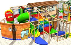 Themed Noah Ark - installed by Iplayco - Church Indoor Playground #children's #ministries #playground #noah
