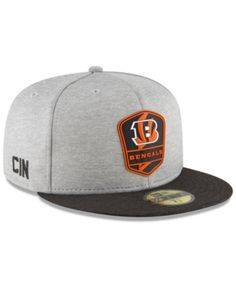 New Era Cincinnati Bengals On Field Sideline Road 59FIFTY Fitted Cap - Black  6 7 8 594aee387