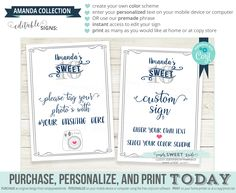 Editable Hashtag Sign, sweet 16 (sixteen) Oh Snap! Share photo on Social Media printable sign. Add your name + choose colors using corjl