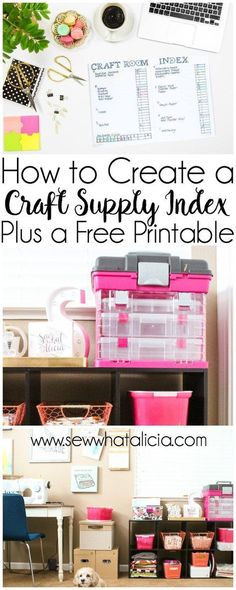 Create a Craft Room Index with a Bullet Journal: If you have a crazy amount of craft supplies like I do then this is the perfect post for you! Get all your supplies organized and remember where you put them with this craft room index tutorial. Click throu