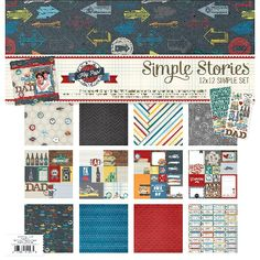 """Simple Sets Dad Collection Kit 12""""X12""""-(6) 12""""X12"""" Papers & (2) 6""""X12"""" Stickers"" - ValuCrafts.com"