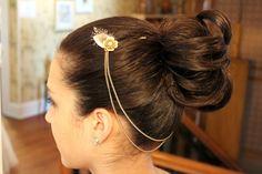 vintage wedding hairpiece  1920s wedding hair by kissmeawake