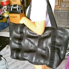 Recycle Creative - Recycled Inner Tube - Jumbo Tote Bag