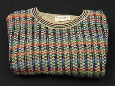 Tricots St Raphael Mens Crewneck Sweater Size XL Rayon Blend Colorful  #TricotsStRaphael #Crewneck