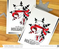 Hello Guys! It's Kara and I'm back with a few more Christmas cards. I am having so much fun going back through all the previously released C...
