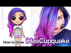 How to Draw iHasCupquake Easy Chibi Kawaii Girl Drawings, Cute Girl Drawing, Cartoon Drawings, Easy Drawings, Draw So Cute People, Chibi, Kauai, Cute Kawaii Girl, Funny Parrots