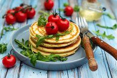 Pancakes salés à la ricotta et basilic